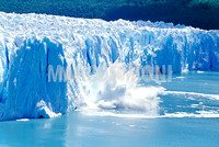 Glacier ice melting and icebergs, Moreno Glacier,