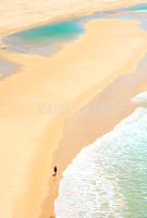 Person walking on Seventy Five Mile Beach, Great Sandy National Park, Fraser Island, Queensland, Australia,